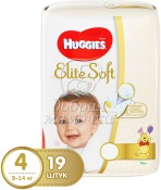 Подгузники Huggies Elite Soft №4 (8-14кг) 19шт.