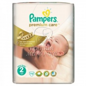 Подгузники Pampers Premium Care Mini №2 (3-6кг) 80шт.