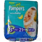 Подгузники PAMPERS Active Baby Midi Plus (5-10кг) Стандарт 21шт.