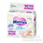 Подгузники Merries Newborn (0-5кг) 24шт.