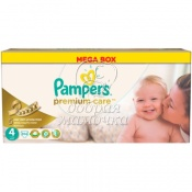Подгузники Pampers Premium Care Мега №4(8-14кг) 104шт.