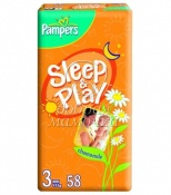 Подгузники Pampers  Sleep & Play Эконом №3(4-9кг) 58шт.