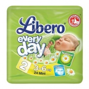 Подгузники Libero Everyday Mini №2 (3-6 кг) 24шт.